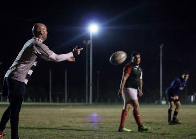Entrenamiento de rugby en el campus UNVM