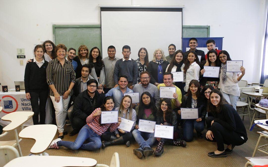 Estudiantes internacionales culminaron su estadía en la UNVM