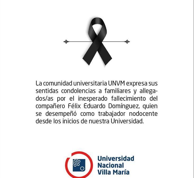 Dolor en la Universidad Nacional de Villa María