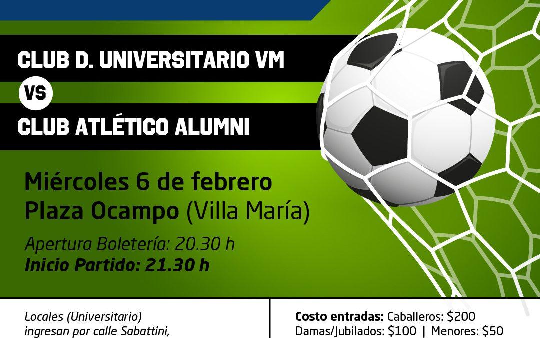 Universitario recibe a Alumni en Plaza Manuel Anselmo Ocampo