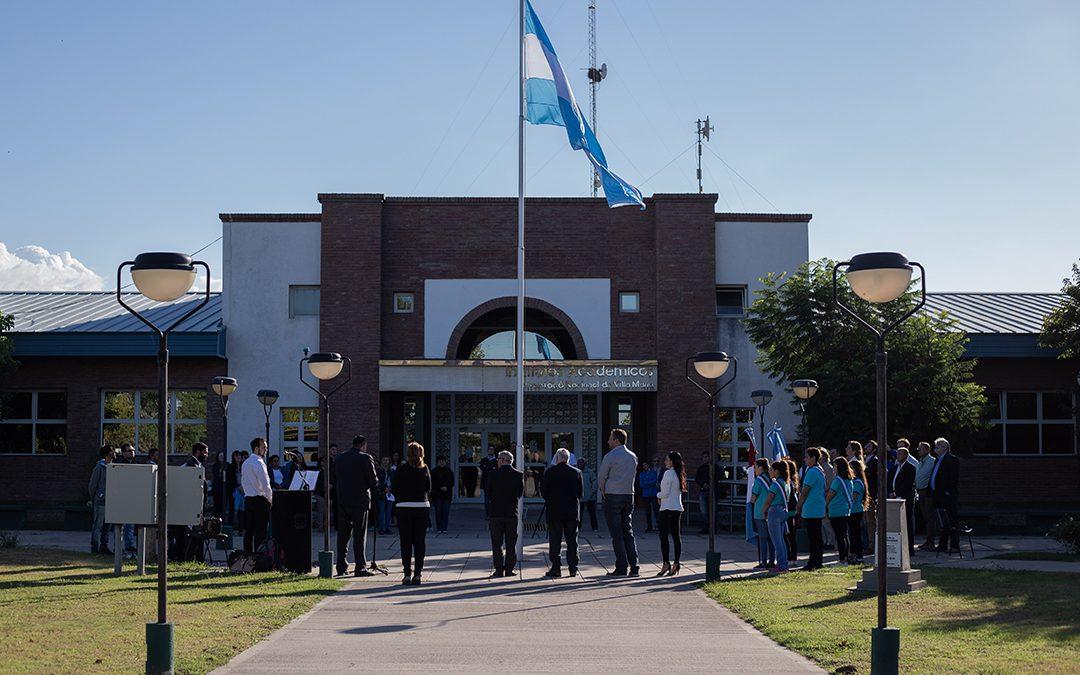 Izamiento de la Bandera Nacional en el Campus