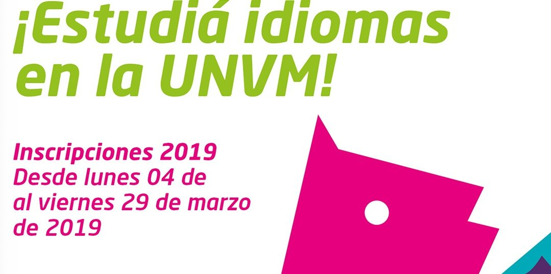 Inscripciones para estudiar idiomas en la UNVM