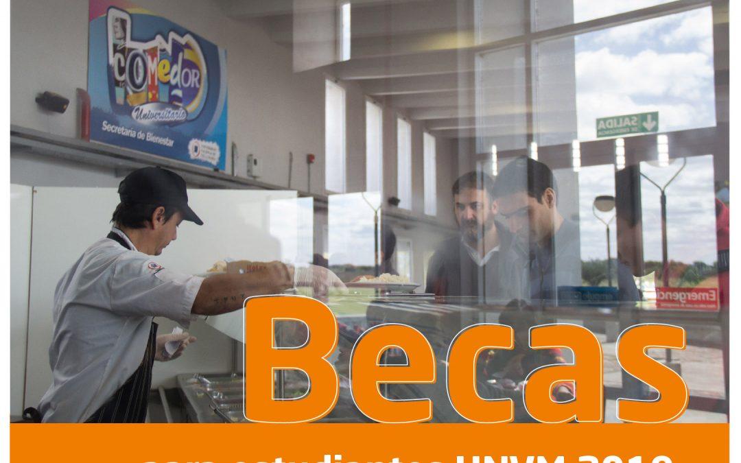 Becas 2019 para estudiantes de la UNVM
