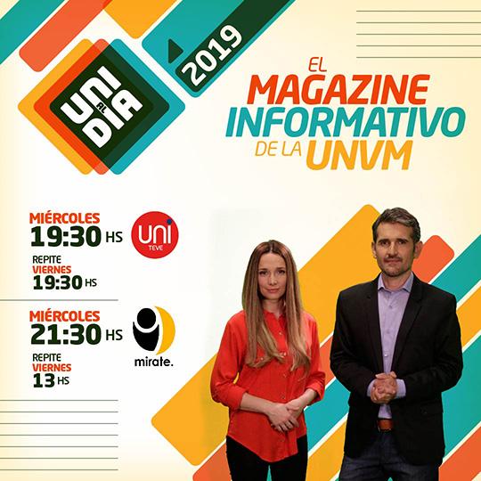 """""""Uni al día"""", el magazine de la UNVM vuelve a la pantalla local"""