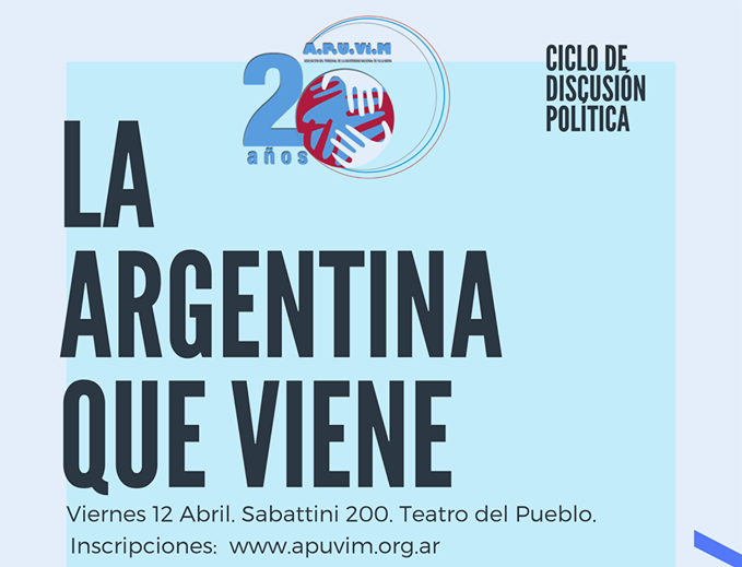 "Apuvim invita a pensar ""La Argentina que viene"""