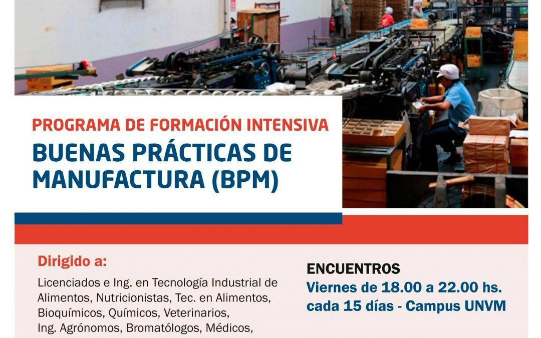 Programa de Formación Intensiva en Buenas Prácticas de Manufactura