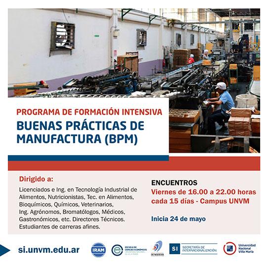 Programa de Formación en Buenas Prácticas de Manufactura