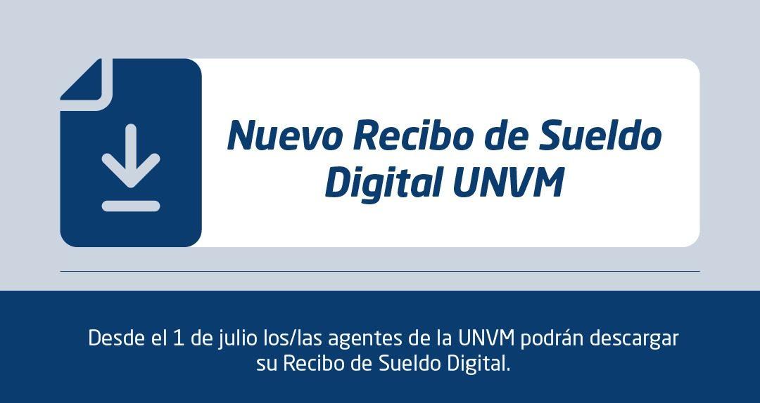 UNVM incorpora recibo de sueldo digital