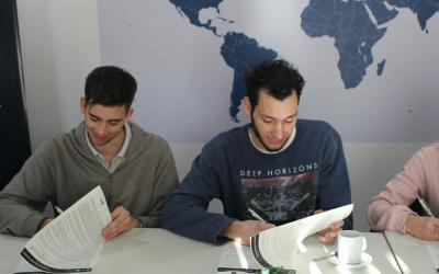 Internacionalización: estudiantes firmaron acuerdos