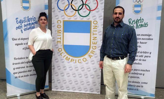 Estudiante de la UNVM en la Academia Olímpica Argentina