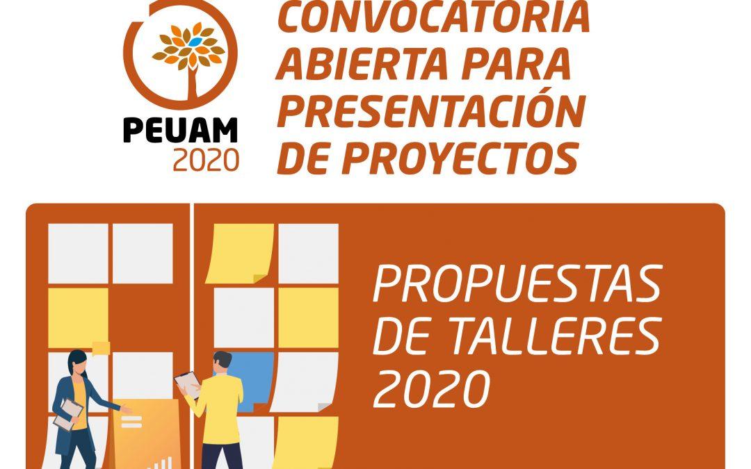 Convocan a presentar proyectos para los talleres del PEUAM 2020