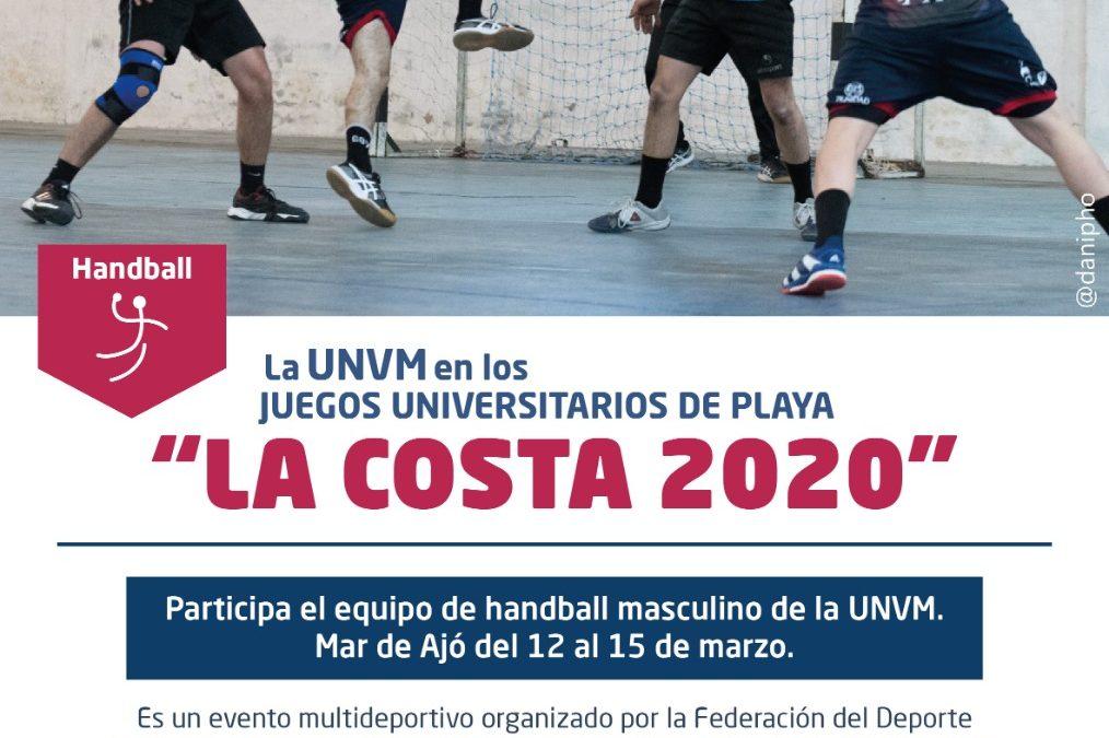 Handball UNVM en los JuegosUniversitarios de Playa