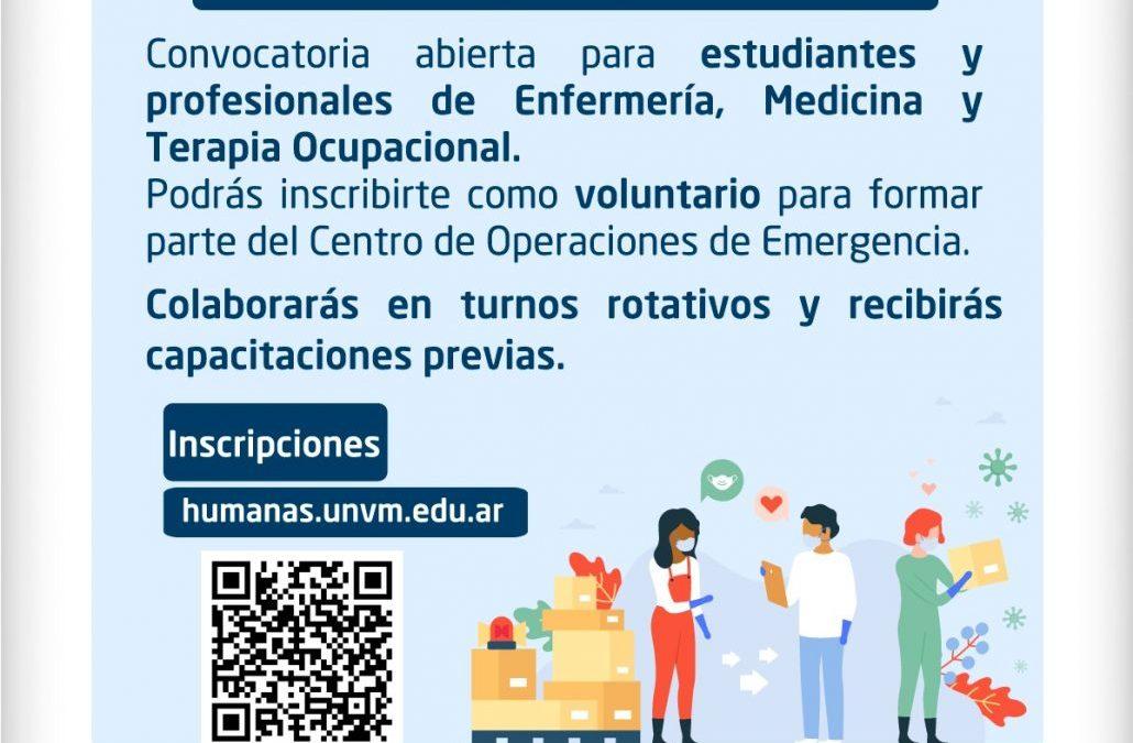 Convocatoria para integrar el Centro de Operaciones de Emergencia