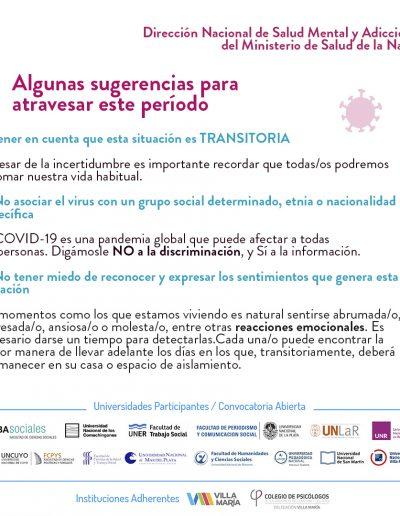 Recomendaciones de salud mental para la población general durante la pandemia - 02