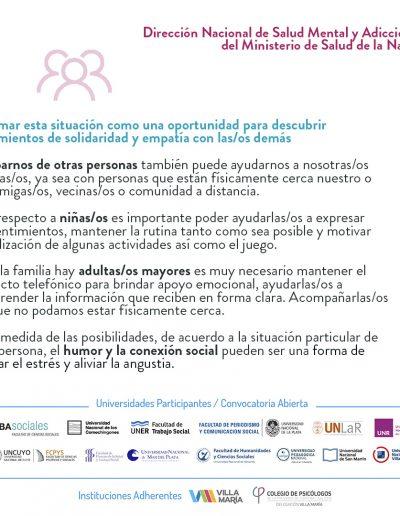 Recomendaciones de salud mental para la población general durante la pandemia - 03