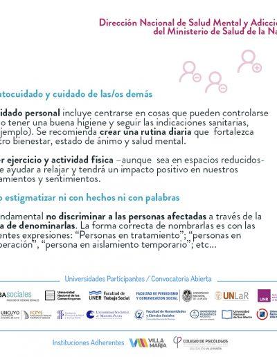 Recomendaciones de salud mental para la población general durante la pandemia - 04