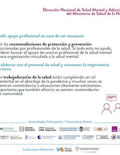 Recomendaciones de salud mental para la población general durante la pandemia - 08