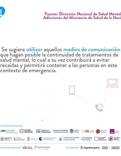 Recomendaciones para la asistencia y continuidad de la atención ambulatoria en salud mental durante la pandemia grupoA-2 04