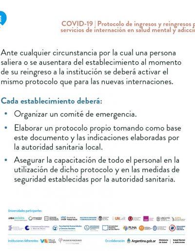Protocolo para ingresos y reingresos en establecimientos y servicios de internación en salud mental y adicciones 07