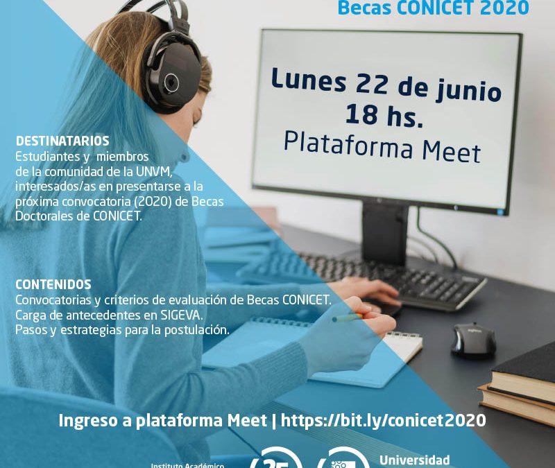 Sociales: reuniones informativas sobre Becas Conicet 2020