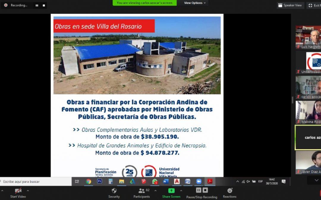 Presentaron obras para sede Villa del Rosario