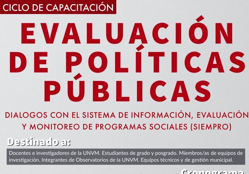 UNVM capacita en evaluación de impacto de políticas públicas