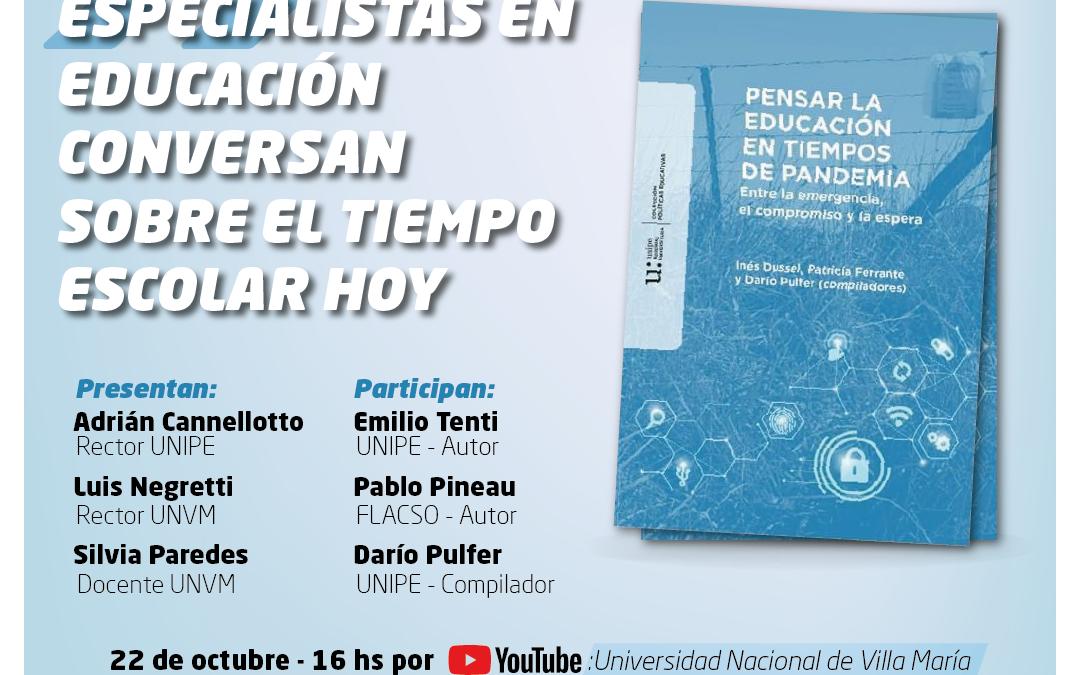 Pandemia: Presentan libro sobre educación