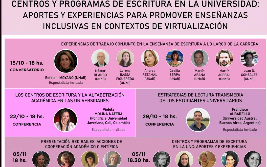"""Jornadas virtuales """"Centros y Programas de Escritura en la Universidad"""""""