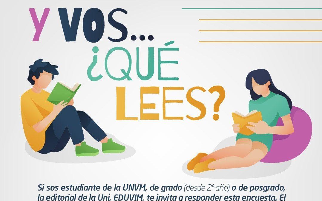 Eduvim continúa la encuesta sobre hábitos de lectura