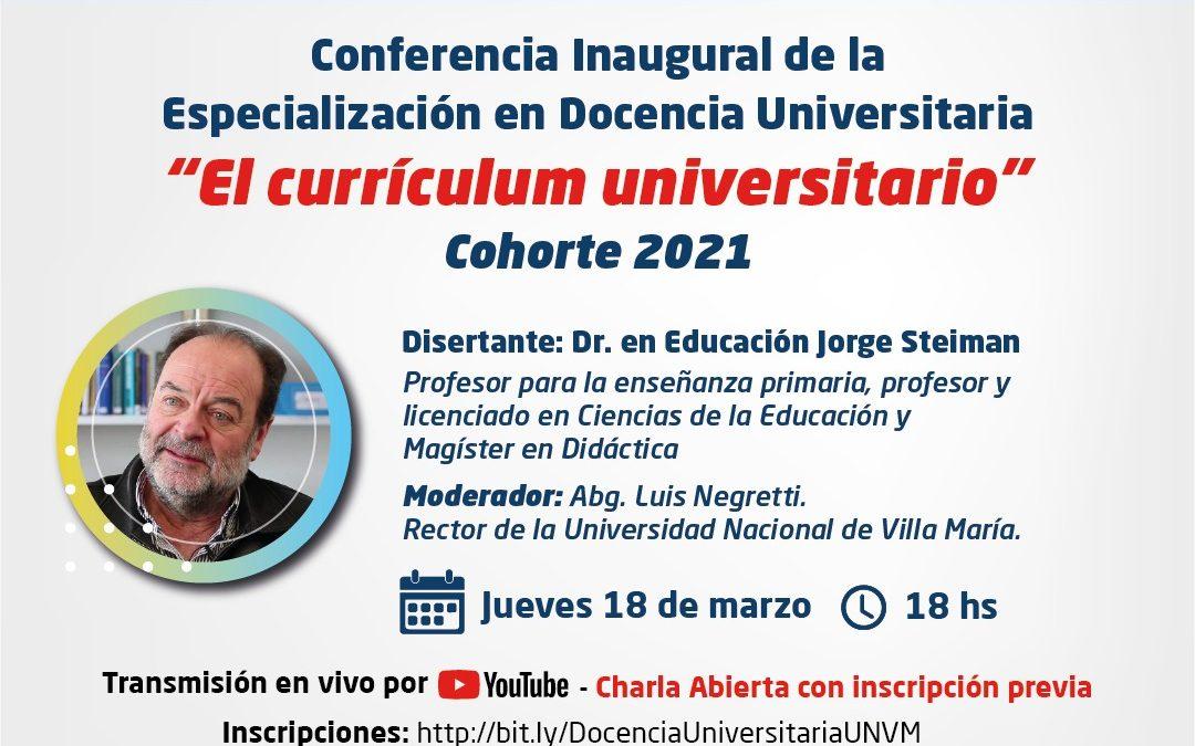 Conferencia inaugural con Jorge Steiman
