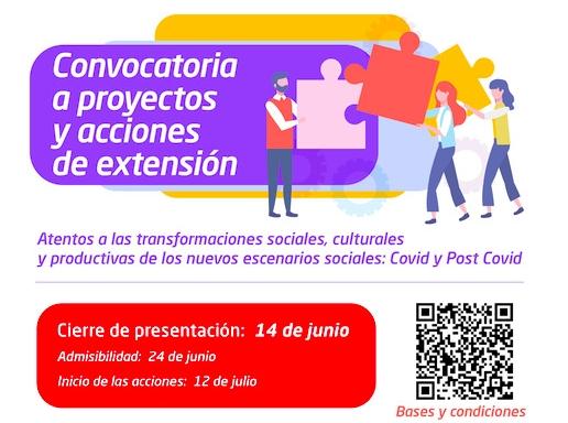Proyectos y Acciones de Extensión: convocatoria abierta