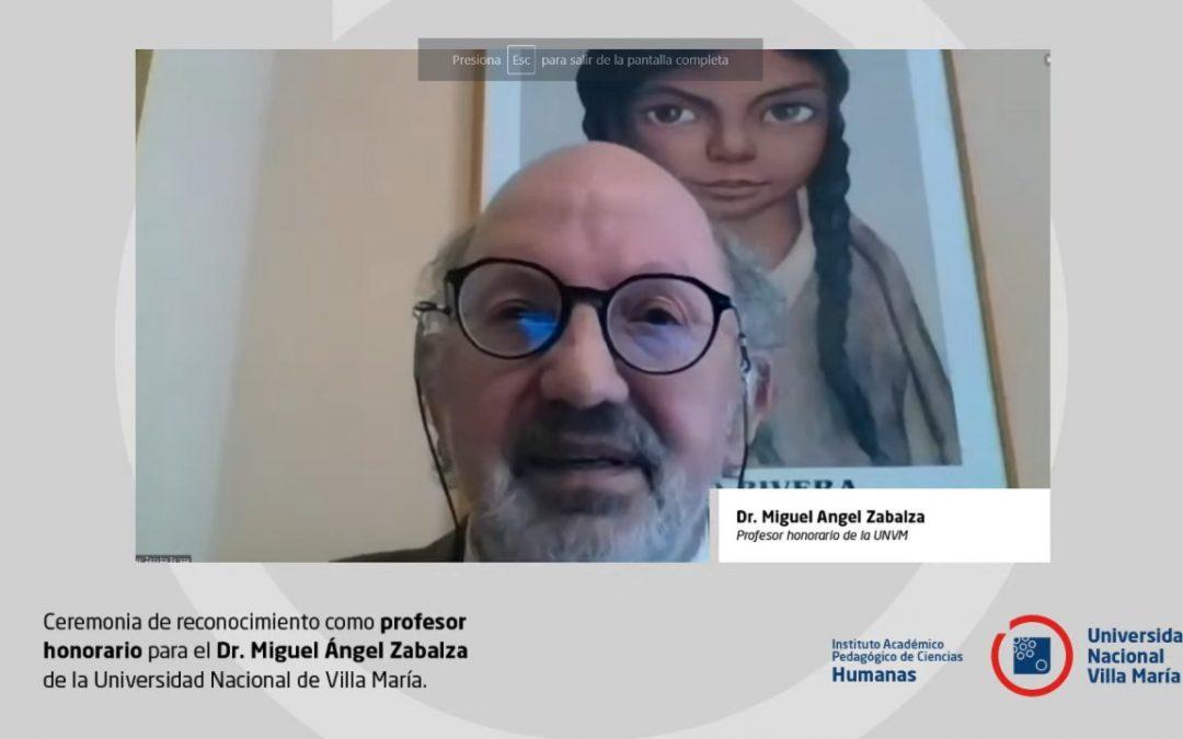 Miguel Ángel Zabalza fue reconocido como «Profesor Honorario»