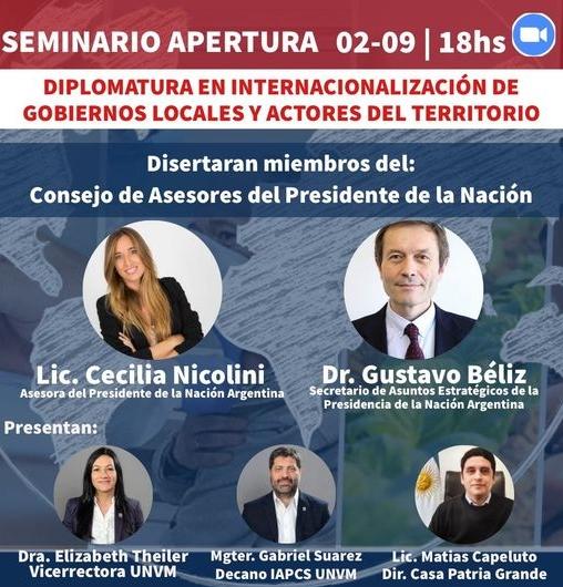 Internacionalización de Gobiernos Locales y actores del territorio